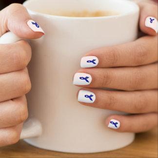 Blue Chronic Fatigue Syndrome Fake Nails Nail Wraps