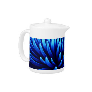 Blue Chrysanthemum flower teapot