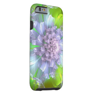 Blue Chrysanthemum Fractal Patterned iPhone 6 Case