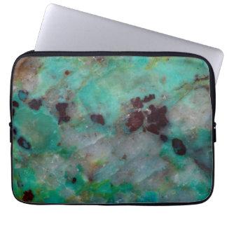 Blue Chrysocolla Jasper Laptop Sleeve