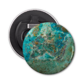 Blue Chrysocolla Stone Image Bottle Opener