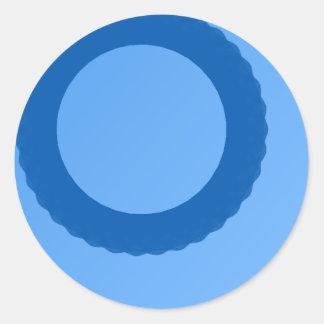 blue circle blue background round sticker