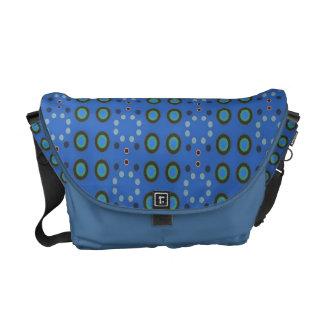 blue circle dots pattern courier bag