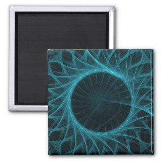 blue circle fractal magnet
