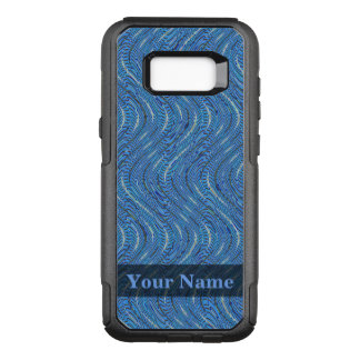 Blue Circles and Waves OtterBox Commuter Samsung Galaxy S8+ Case