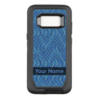 Blue Circles and Waves OtterBox Defender Samsung Galaxy S8 Case