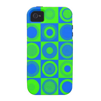 Blue circles vibe iPhone 4 cases