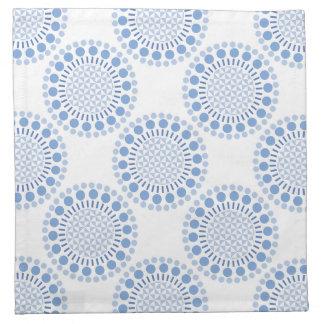 Blue Circles Cloth Napkins