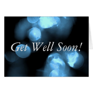 Blue Circles Get Well Soon Note Card