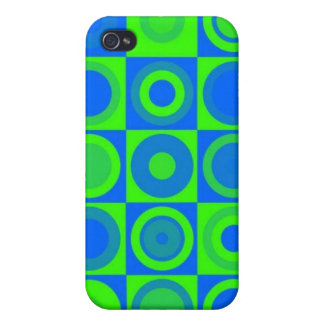 Blue circles iPhone 4/4S cover