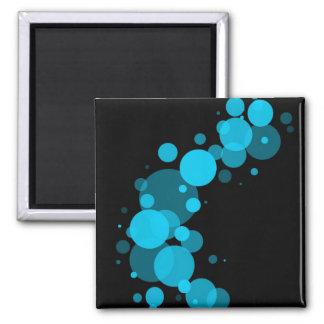 Blue circles refrigerator magnets
