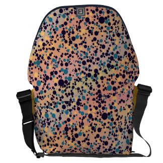 Blue Circles on Gradient Courier Bags