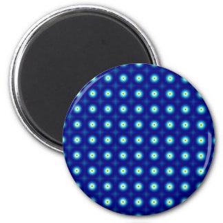 Blue Circles Round Magnet