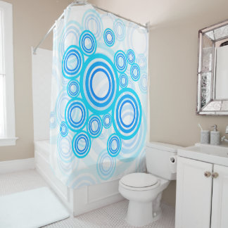 Blue Circles Shower Curtain