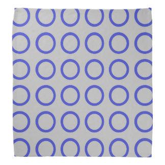 Blue Circles Silver Bandana