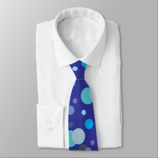 Blue Circles Tie