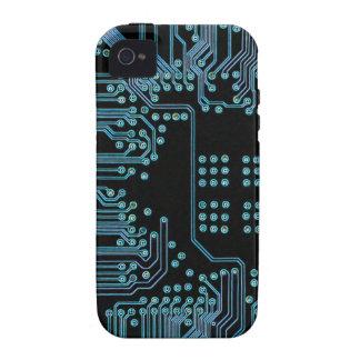 Blue Circuit iPhone 4 Cases