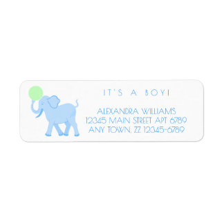 Blue Circus | Baby Boy Adorable Personalize It Return Address Label