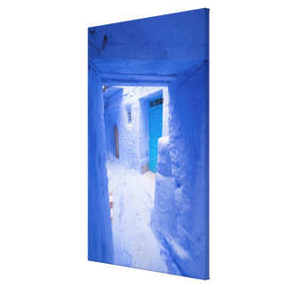 Blue City Alleyway Canvas Print