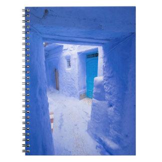 Blue City Alleyway Spiral Notebook