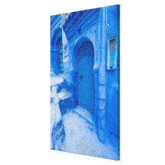 Blue City Door Canvas Print
