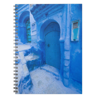 Blue City Door Spiral Notebook