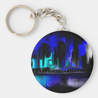 Blue City Key Chain