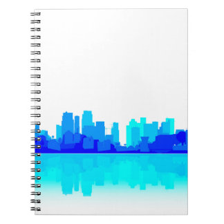 Blue City Reflections Spiral Notebooks