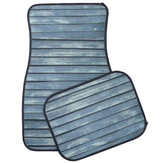 Blue Clapboard Car Mat