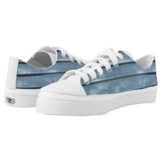 Blue Clapboard Low Tops