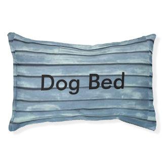 Blue Clapboard Pet Bed