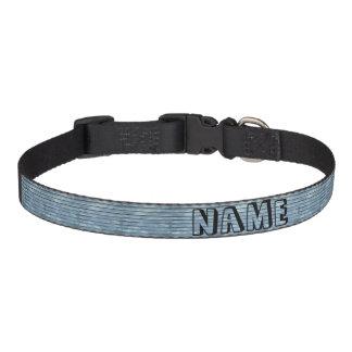 Blue Clapboard Pet Collar