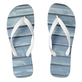 Blue Clapboard Thongs