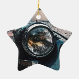 Blue Classic Car Ceramic Ornament