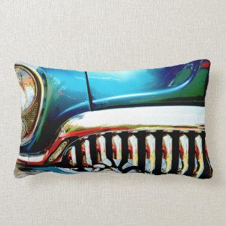Blue Classic Car Grill Photo Cushion Pillow
