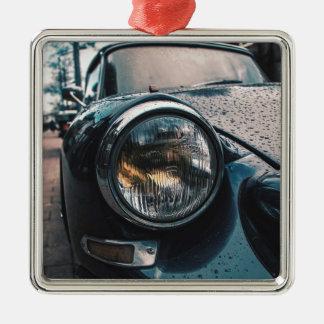 Blue Classic Car Metal Ornament
