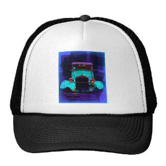 Blue Classic Hot Rod Mesh Hats