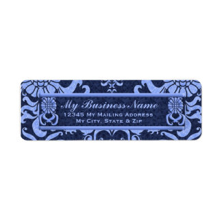 Blue Classic Swirls Return Address Label
