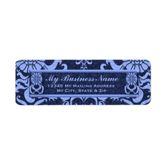 Blue Classic Swirls Return Address Label