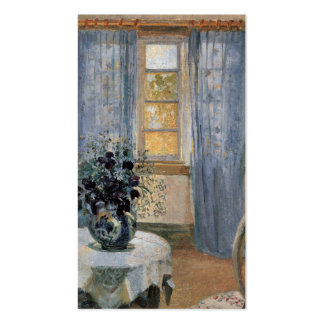 Blue Clematis in studio of the artist Anna Ancher Pack Of Standard Business Cards