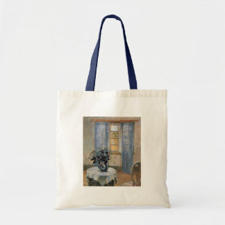 Blue Clematis in studio of the artist Anna Ancher Tote Bag