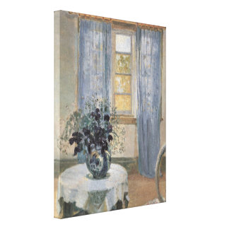 Blue Clematis in the Artist's Studio, Anna Ancher Gallery Wrapped Canvas