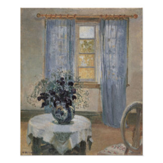 Blue Clematis in the Artist's Studio, Anna Ancher Posters