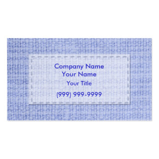 Blue Clothing Business Card Templates
