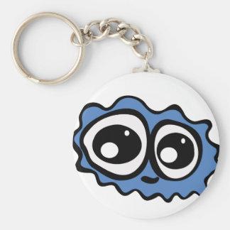 Blue Cloud Basic Round Button Key Ring