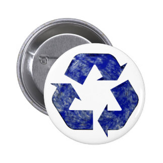 Blue Cloud Recycling Button