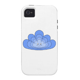 Blue Cloud with Smile on White. iPhone 4/4S Case