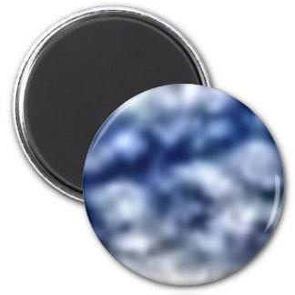 Blue Clouds 6 Cm Round Magnet