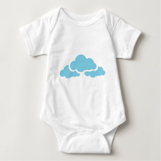 Blue Clouds Baby Bodysuit
