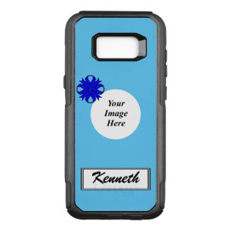 Blue Clover Ribbon Template by Kenneth Yoncich OtterBox Commuter Samsung Galaxy S8+ Case